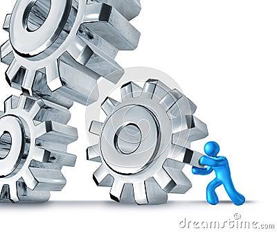 Gears turning teamwork