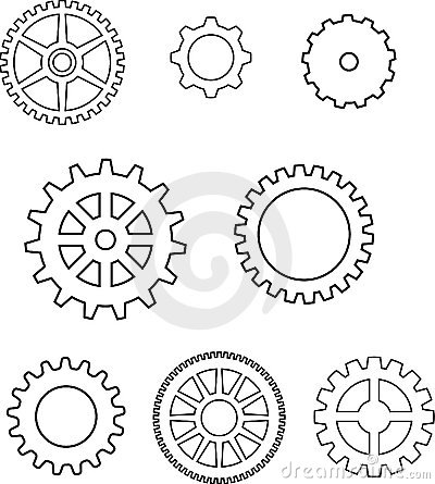 Gears in vector