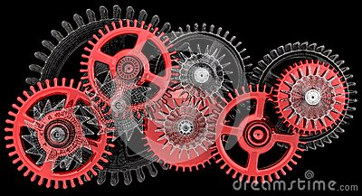 Gears. Work concept. Stock Photo