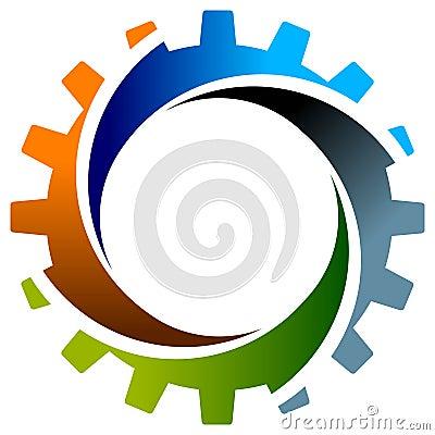 Gearwheel with swirl