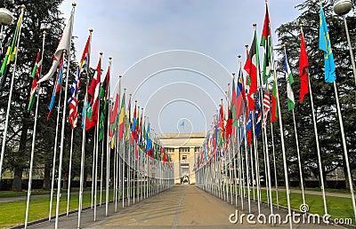 Gebäude der Vereinten Nationen, Genf, die Schweiz