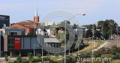 Gebäude 4K UltraHD Brock University, St. Catharines, Kanada stock footage
