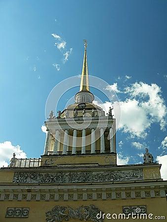 Stockbilder gebäude von admiralität st petersburg russland