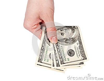 Geben des Geldes