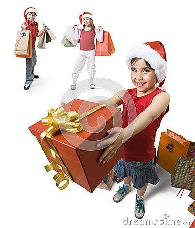 Geben eines Geschenkes
