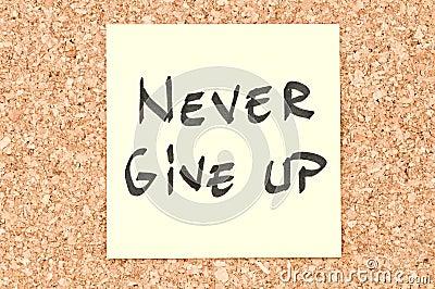 Geben Sie nie auf