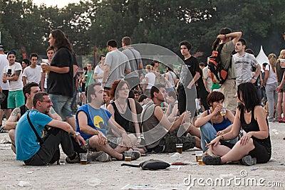 Gebläse bei Tuborg grünes Fest Redaktionelles Bild
