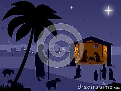 Geboorte van Christus. De heilige Nacht