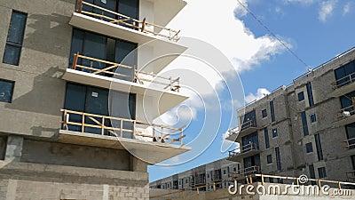 Gebouwen Miami Upper East Side stock videobeelden