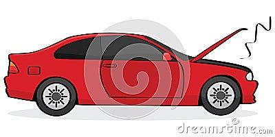 Gebroken auto
