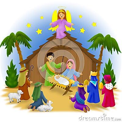 Geburt Christi-Kinder