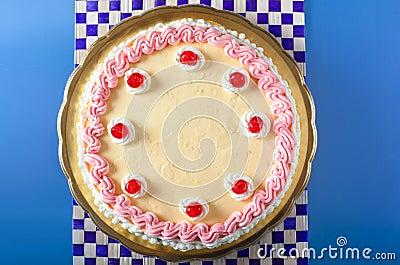 Geburtstag-Erdbeere und Sahne-Kuchen