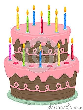Geburtstag-Kuchen