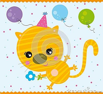 Geburtstagkatze