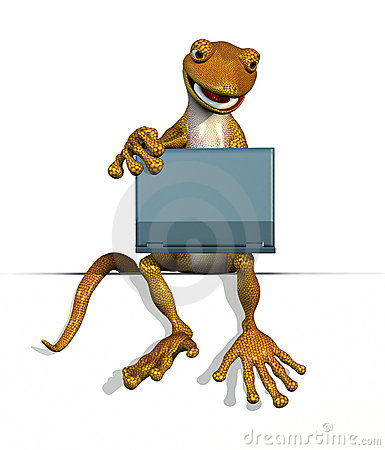 Gecko on Edge with Laptop