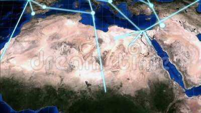 GECONDENSEERD Groeiend Mondiaal Net vector illustratie