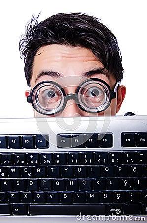 Geek divertente del computer