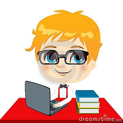 Geek Kid Student