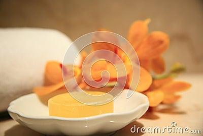 Geel, zeep