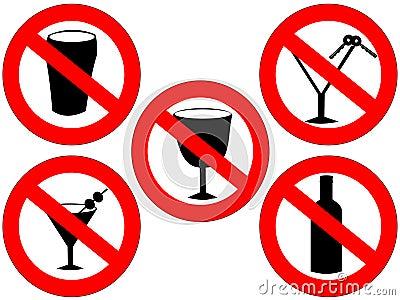 Geen alcoholtekens