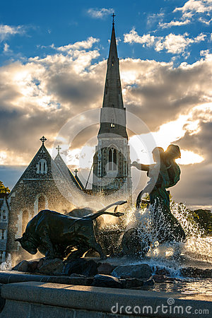 Gefion fountain. Copenhagen, Denmark