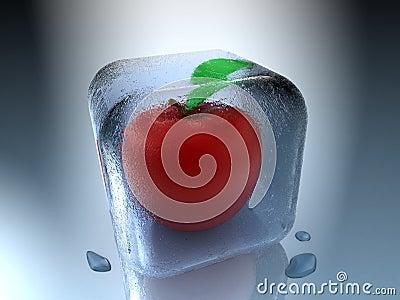 Gefrorener Apfel