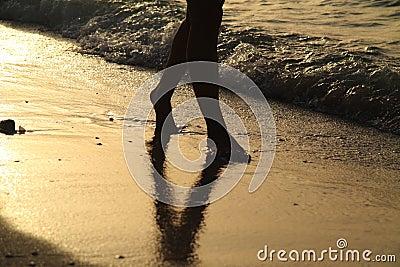 Gehen auf den Strand