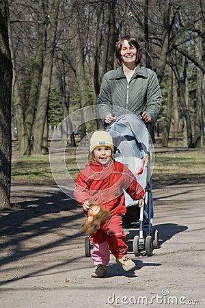 Gehen in den Park
