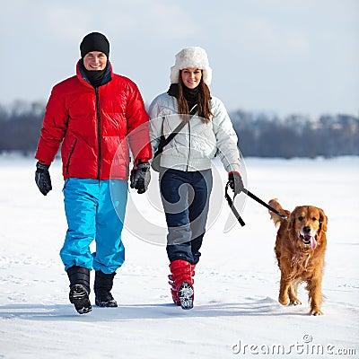 Gehen mit Hund