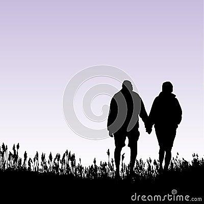 Gehende Paare