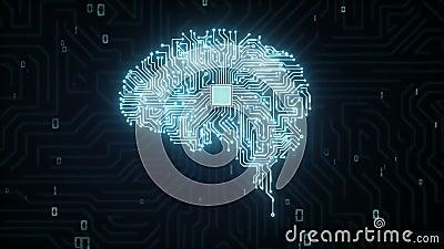 Gehirn-CPU Chip, wachsen künstliche Intelligenz