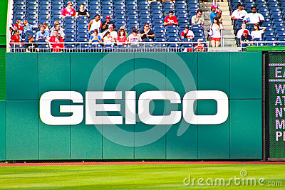 Geico advertisement Editorial Stock Image