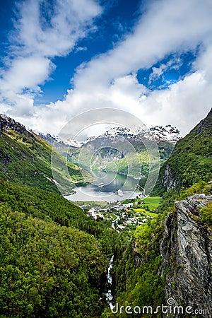 Free Geiranger Fjord, Norway. Stock Photo - 57110160