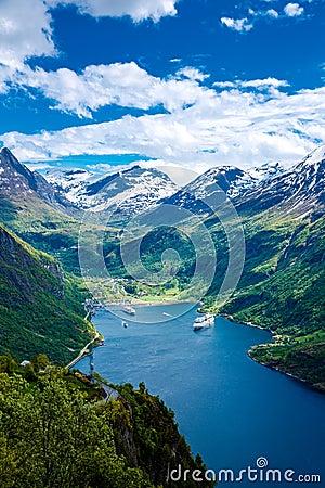 Free Geiranger Fjord, Norway. Royalty Free Stock Photo - 66605595