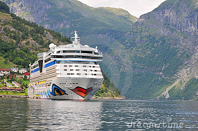 Geiranger, Norway. Cruise ship AIDA luna