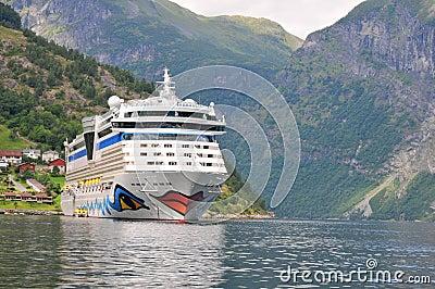 Geiranger, Norway. Cruise ship AIDA luna