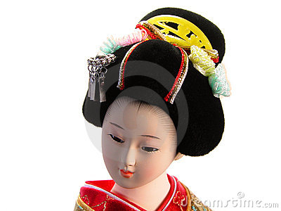 Geisha doll portrait