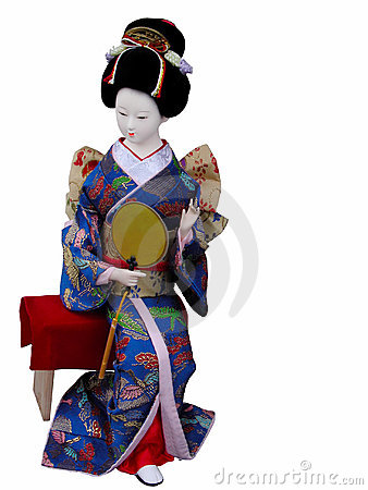 Geisha doll sitting