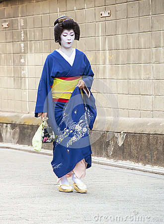 Geisha in Gion district in Kyoto, Japan Editorial Image