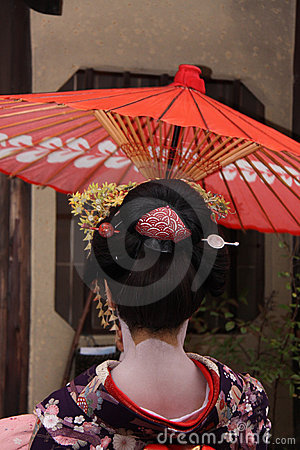 Geisha in Gion, Kyoto Editorial Photo
