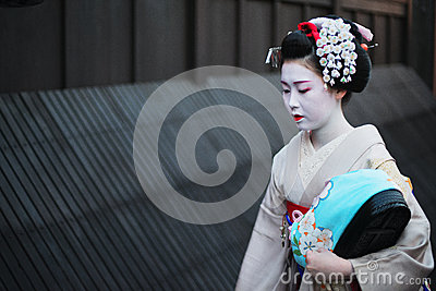 Geisha in Gion Editorial Photo