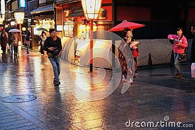Geisha hunt Editorial Photography