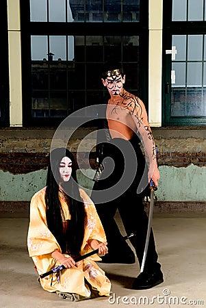 Geisha and samurai