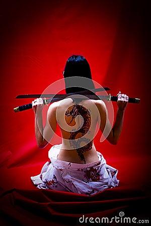 Geisha with Tattoo