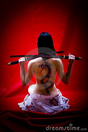 Free Geisha With Tattoo Stock Photo - 6936220