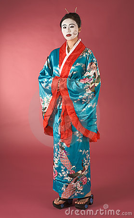 Geisha in yukata - japanese
