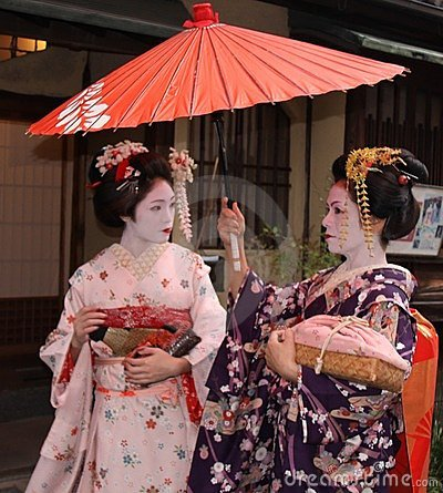 Geishas in Gion, Kyoto Editorial Stock Photo