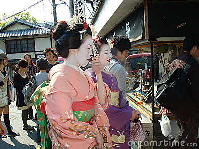 Geishas in Kyoto Editorial Photo