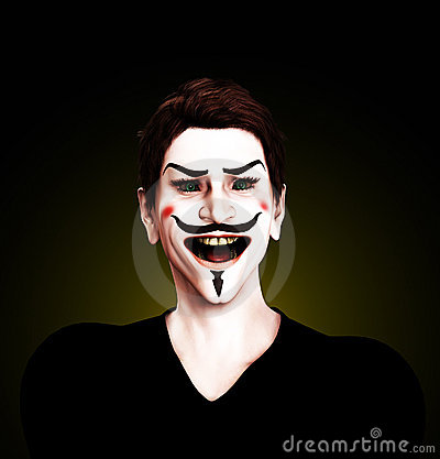 Geisteskranker Kerl Fawkes