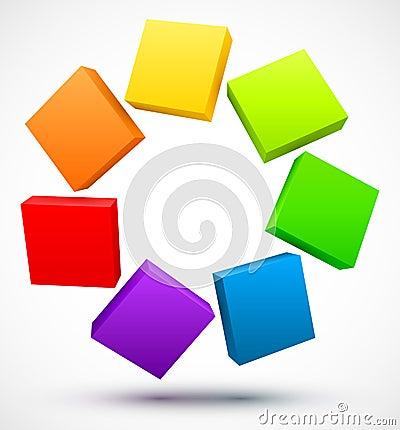 Gekleurde 3D platen